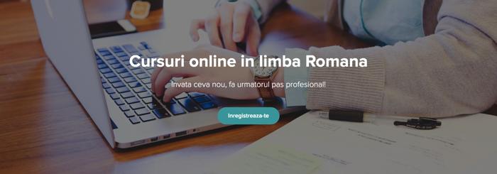 Cursuri online in limba romana