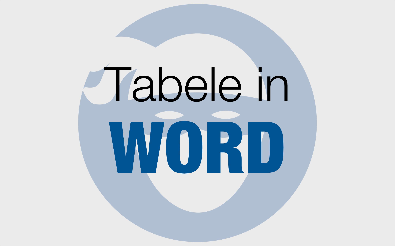 Tabele Word
